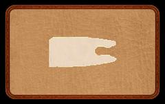 Хвостовик для деревянной стрелы с натуральным пером