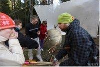 Под Минском прошел фестиваль, посвященный закрытию сезона спелеологов, велосипедистов и лучников